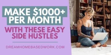 Make 1000 A Month Easy Side Hustles