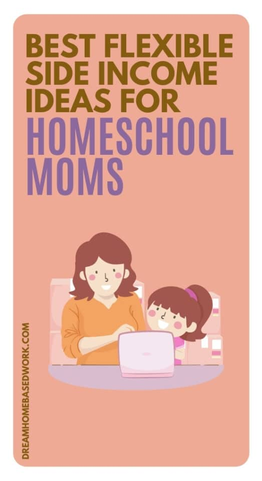 Are you a homeschool mom looking for the best ways to make money from home? These flexible side income ideas are worth checking out!