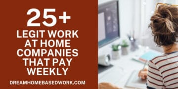 25 real Work at Home Companies That Pay Weekly facebook