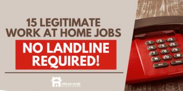 Best 15 Work from Home Jobs (No Landline Required) fb
