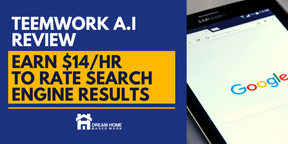 TeemWork.ai Work at Home Review: Earn $14/hr To Rate Search Results fb